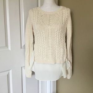 Moth~Anthropologie Cable Knit Sweater